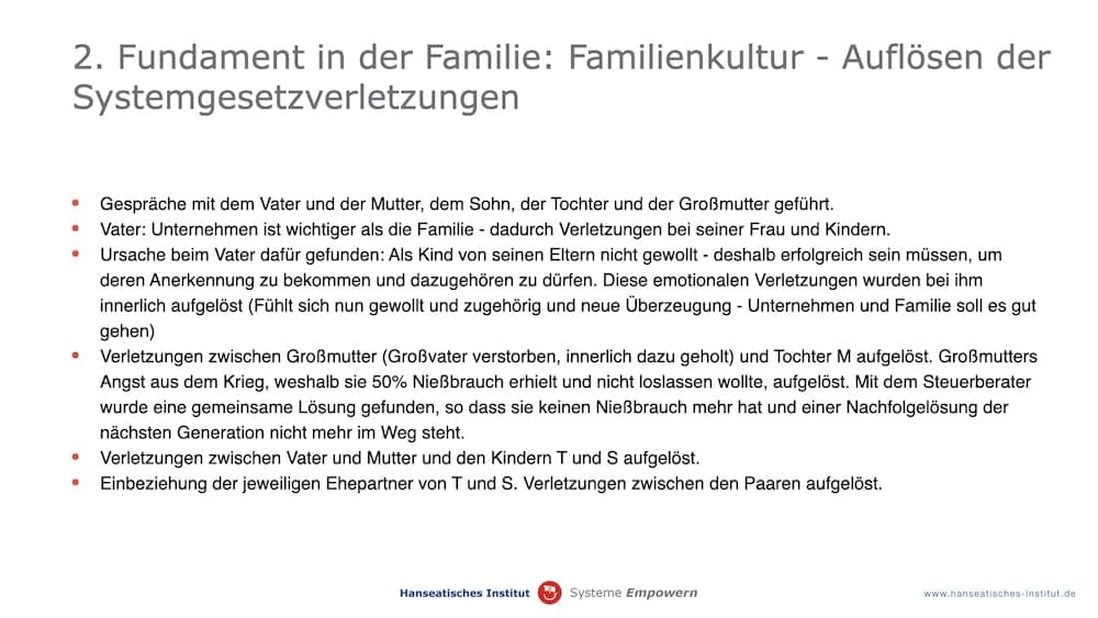 GmbH Fundament in der Familie